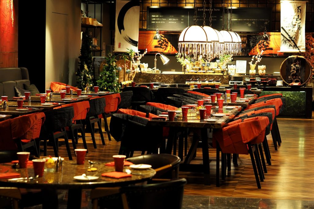 Warm Restaurant Interior Colors should be chosen for a fine dine establishment