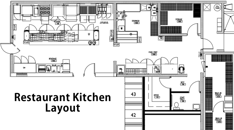 Restaurant design guidelines how to design a restaurant for Restaurant layout floor plan samples