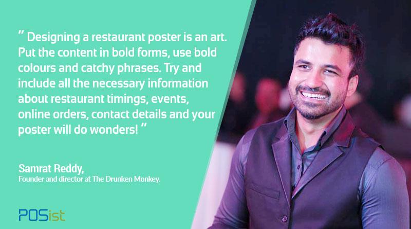 Samrat Reddy shares restaurant poster design tips