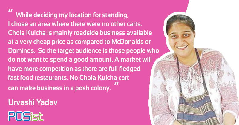 Deciding the location of a food cart , is exceptionally important says Urvashi Yadav