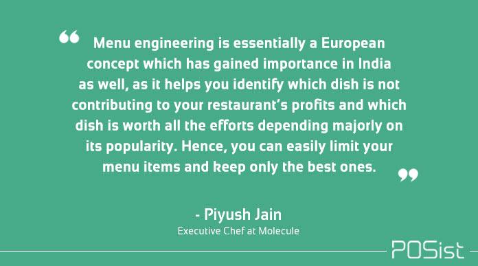 what is restaurant menu engineering