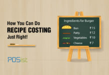 Recipe costing is very important that will ensure that your menu prices does not run your restaurant into a loss.