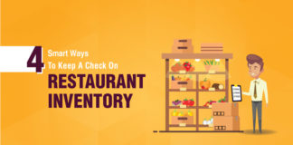 4 stellar ways to maintain a tight control on your restaurant inventory.