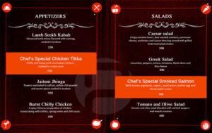 menu design menu example