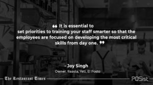 Joy Singh of Raasta talks about the importance of staff training