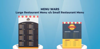 Deciding The Size Of The Restaurant Menu - Big Vs Small