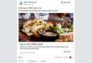 restaurant ads facebook