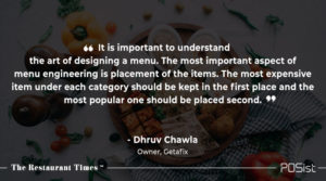 Dhruv Chawla of Getafix talks about the importance of menu engineering