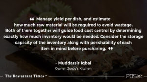 Muddassir Iqbal of Zooby's Kitchen talks about the importance of food cost control.