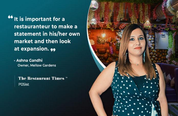 Ashna Gandhi- Owner, Mellow Garden, Rajouri Garden, Delhi Interview
