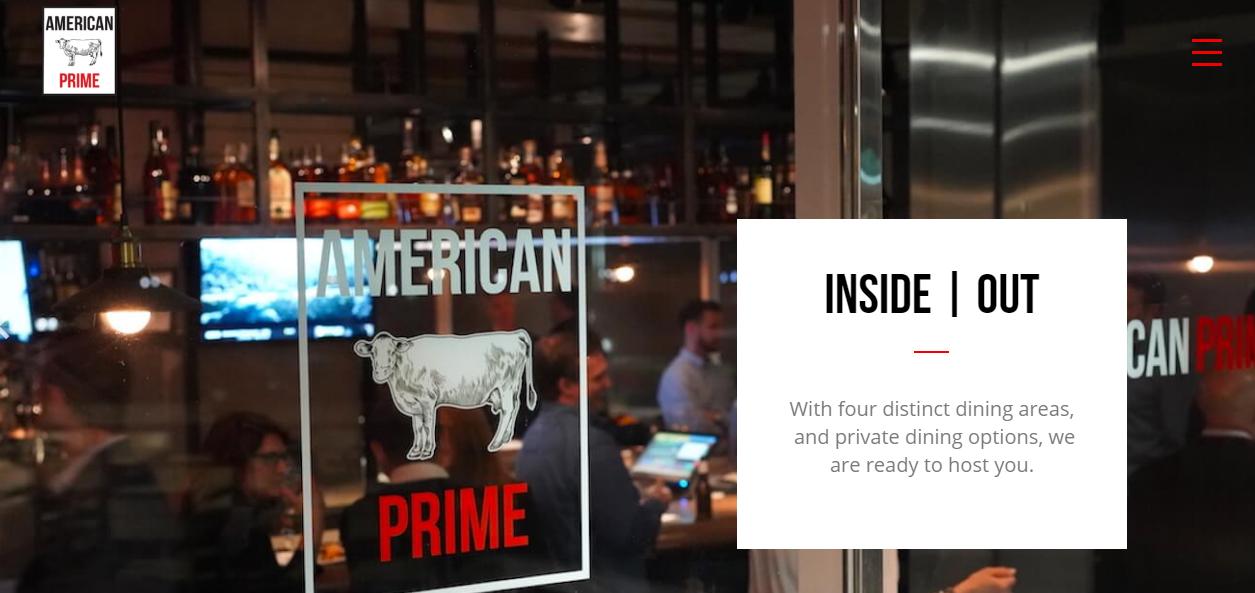 american prime restaurant website