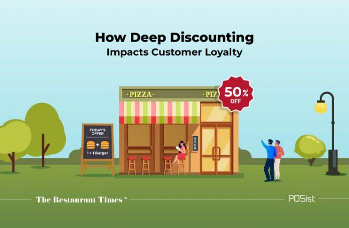 Deep discounting at restaurants impacts customer loyalty