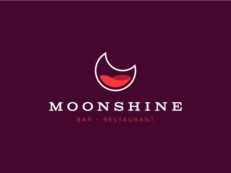 Moonshine bar logo