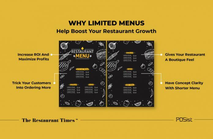 Limited menu