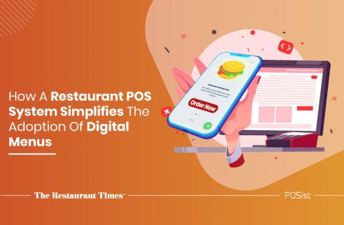 Adopting digital menus through a POS software