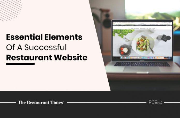 Restaurant website elements