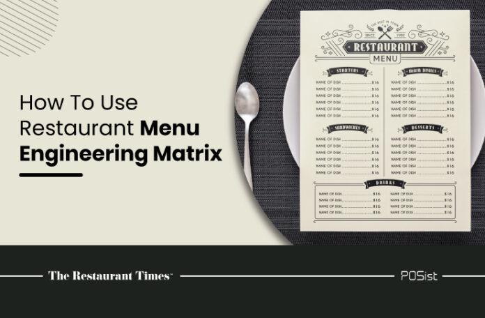 Menu Engineering Matrix